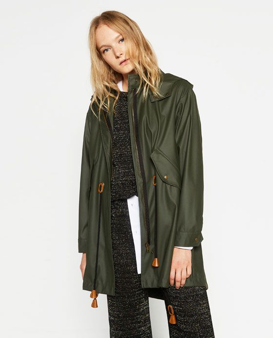 Image 2 of FLOWING PARKA from Zara