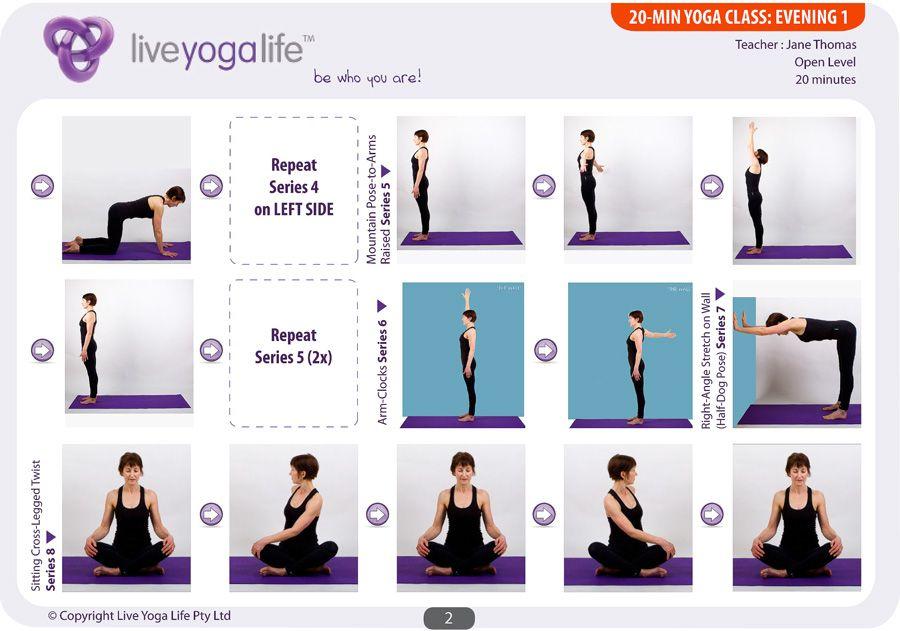 20-Minute Yoga (Evening) – Class 1: Calm & Centring