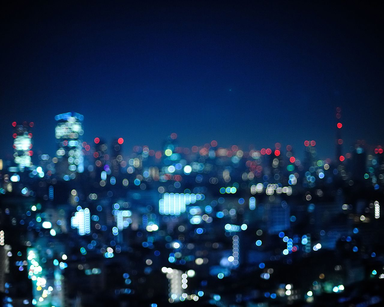 Blur And Blue Bokeh City Bokeh Wallpaper Background Wallpapers