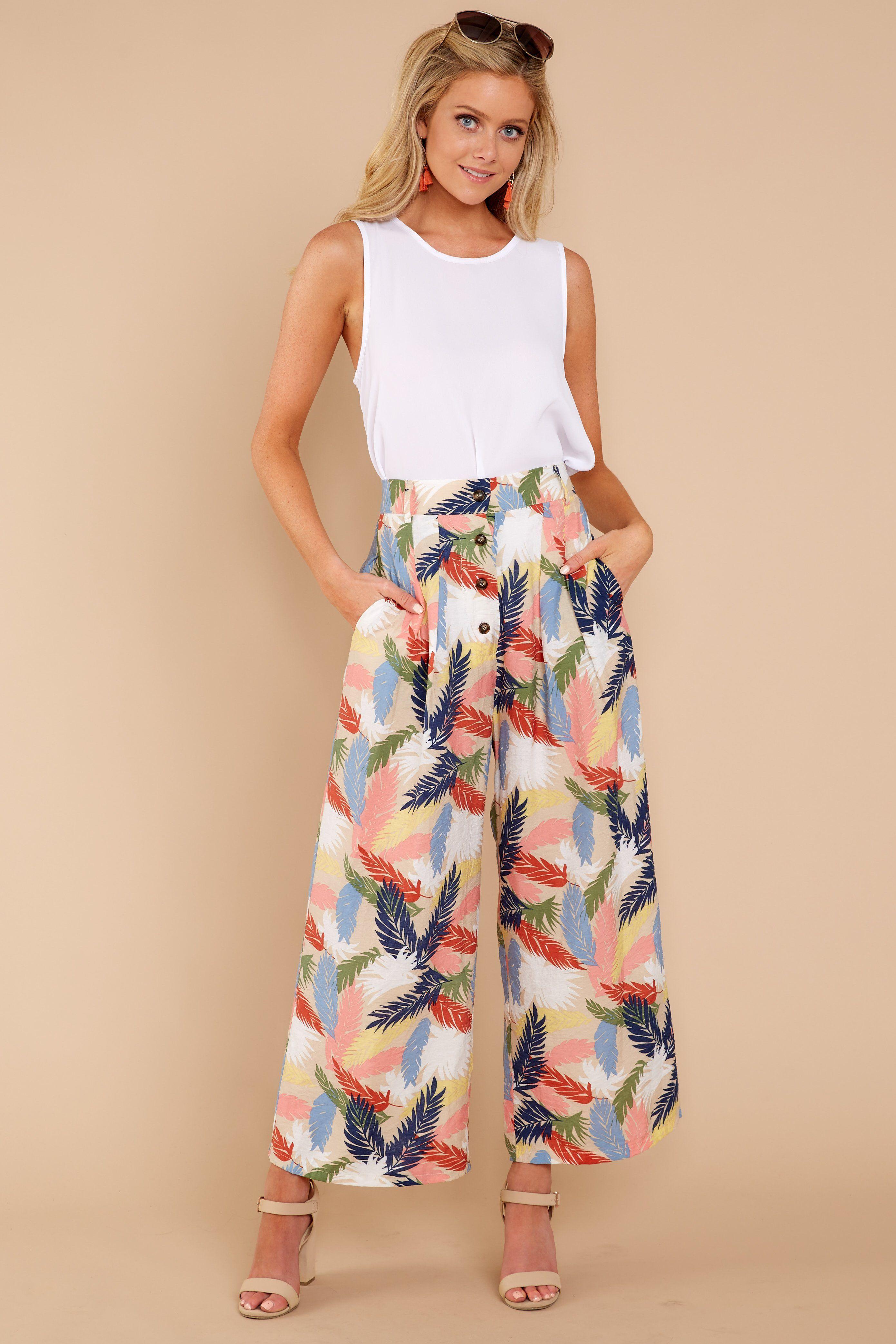 Trendy Tan Print Pants Cute Print Pants Pants 48 00 Red