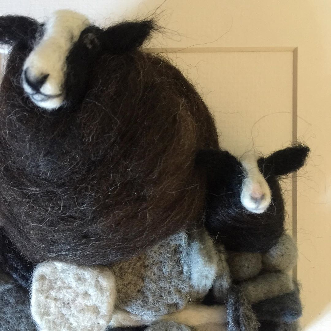Waking up, remembering the news from last night. Keeping positive. I am still able to sell online, link to my website in bio, and have lots of lovely commissions to keep me busy #sheep #needlefelting #needlefelt #felt #feltart #feltartist #artist #fibreart #fibreartist #textileart #artwork #artistsoninstagram #3dart #wool #woolsculpture #sheep #dog #dogsofinstagram #sheepofinstagram #sheepdog #sheepdogsofinstagram #originalart #supportsmallbusiness #smallbusiness #womeninbusiness