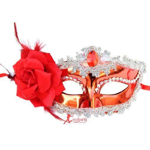 Venetian Style Snow White Flower Mask Multicolor Half Mask #SWMK1022SIRE - http://www.halloween.quick-reviews.com/5872/venetian-style-snow-white-flower-mask-multicolor-half-mask-swmk1022sire.html