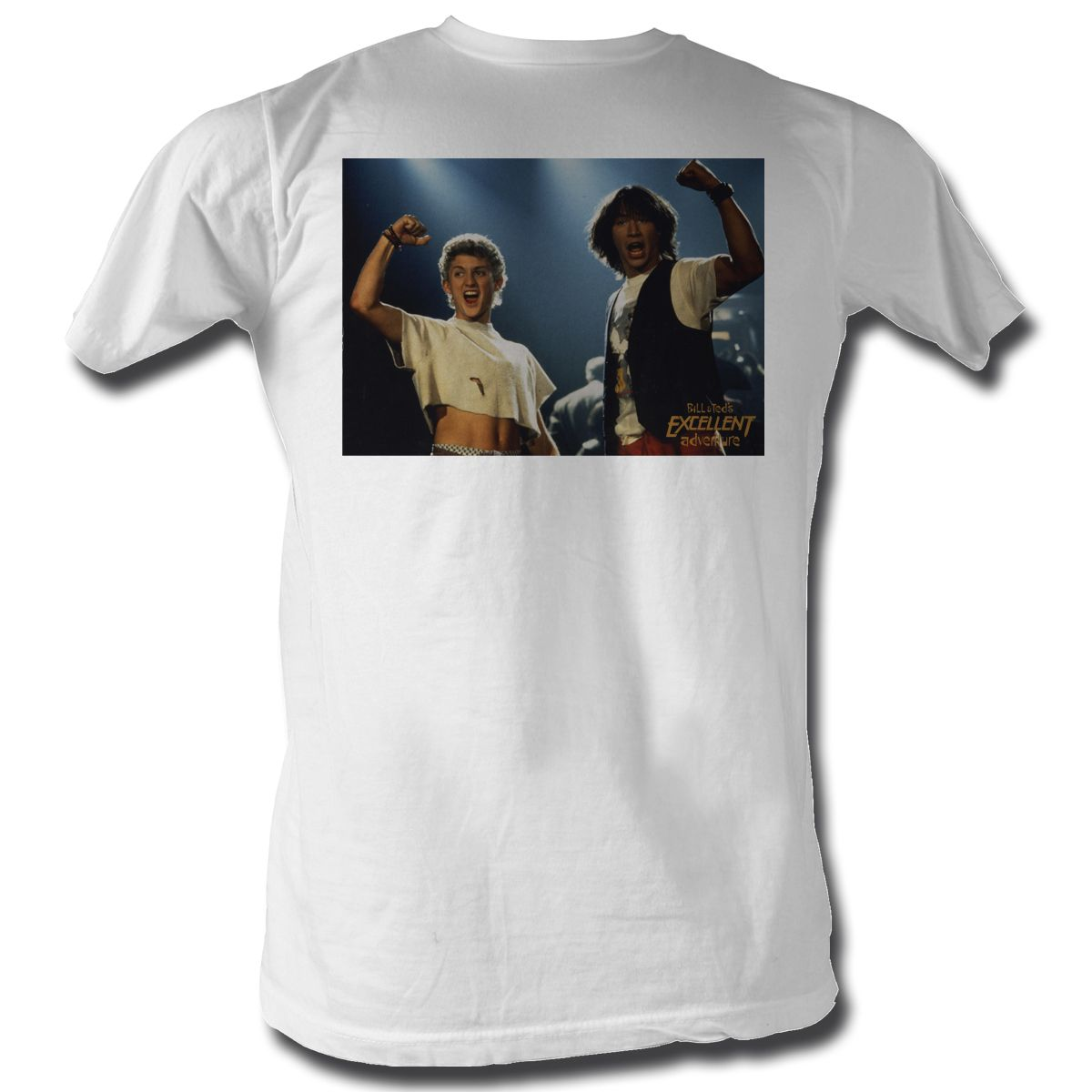Bill And Ted Shirt Picture White Tee T-Shirt - Bill And Ted Shirts