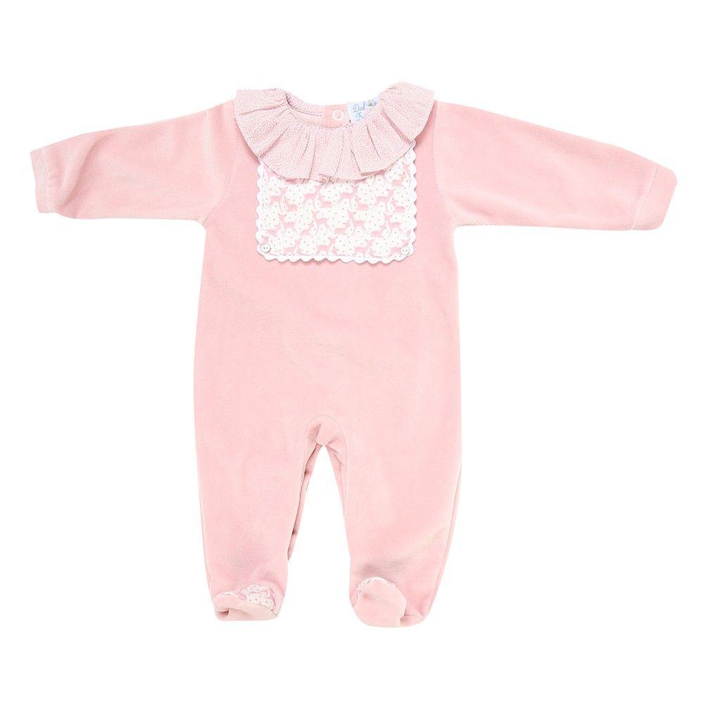 Pijama rosa claro cuello vonates | MAMUKY