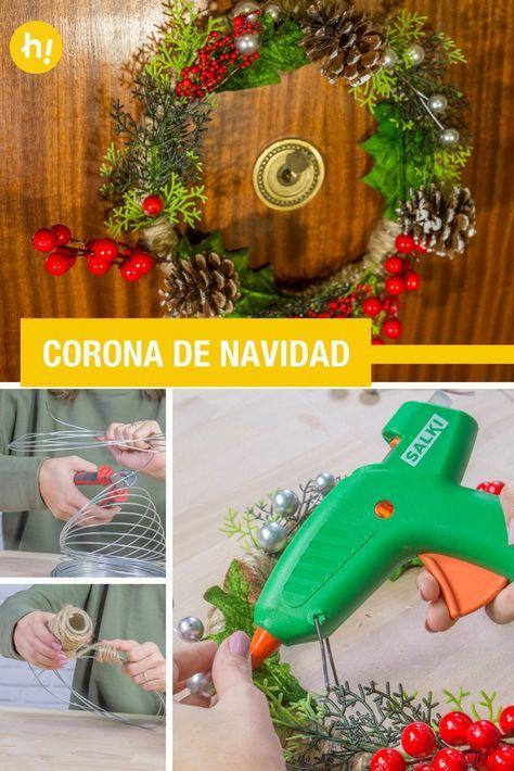 Cmo hacer una corona de Navidad Pinterest Coronas de navidad