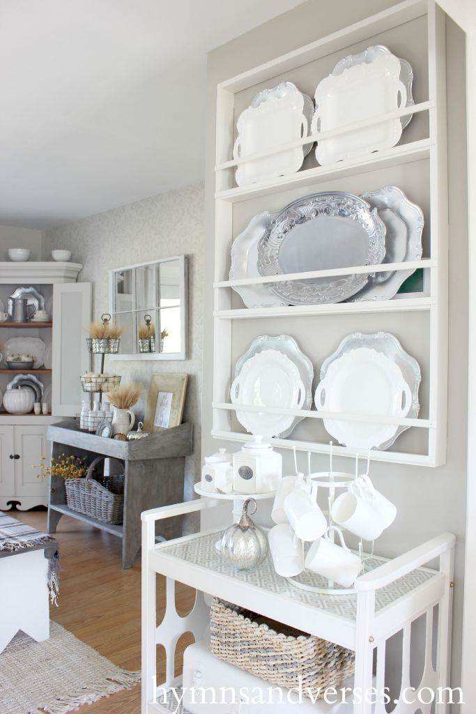 DIY Plate Rack - Small Home Tour The dining room and kitchen areas are where everyone & My Small Home Tour | Tea cart Maximize space and Plate racks