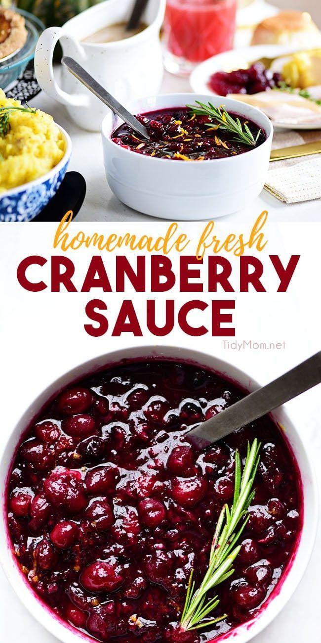 Homemade Fresh Cranberry Sauce #cranberrysauce