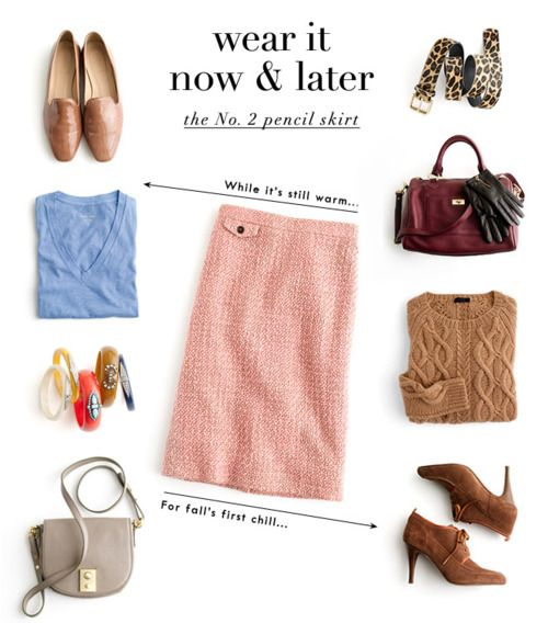 Now & Later: the pencil skirt
