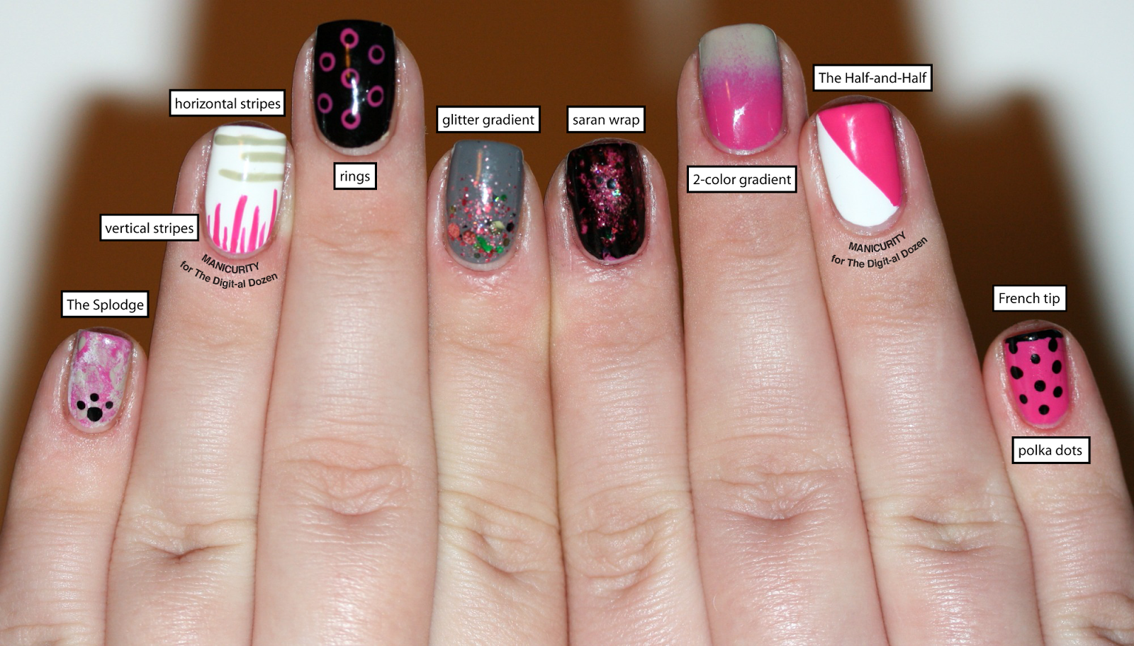 The digit al dozen a dozen easy nail art patterns by easy nail art prinsesfo Image collections