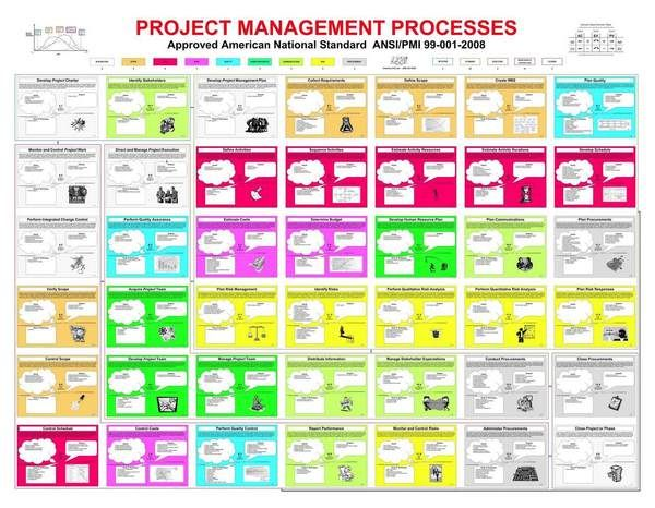 Chart for ANSI Standard Project Management Processes on Behance