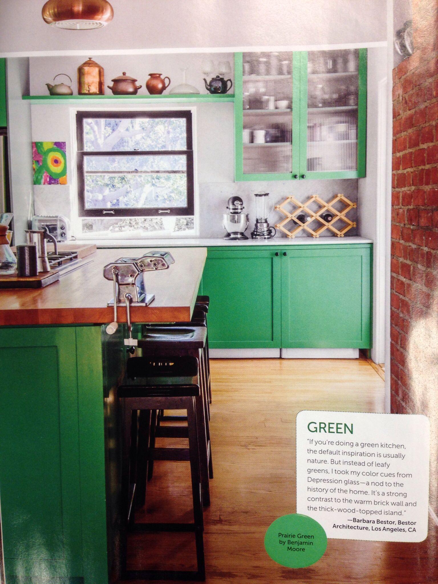 Green kitchen cabinets - HGTV magazine | Green kitchen ...
