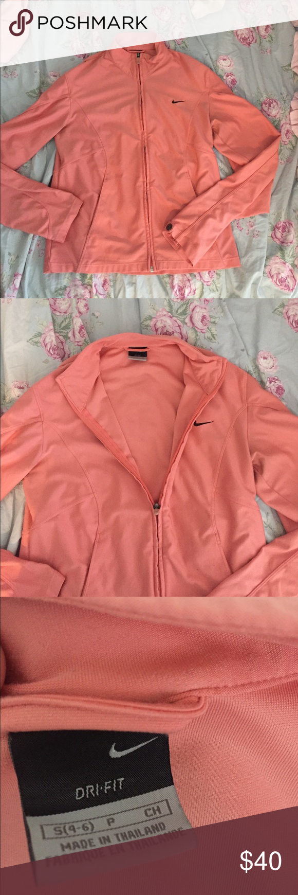 NEVER WORN Nike dri-fit jacket !!! extremely cute and rare Nike dri-fit jacket (will take offers) Never worn!!!!! Nike Jackets & Coats