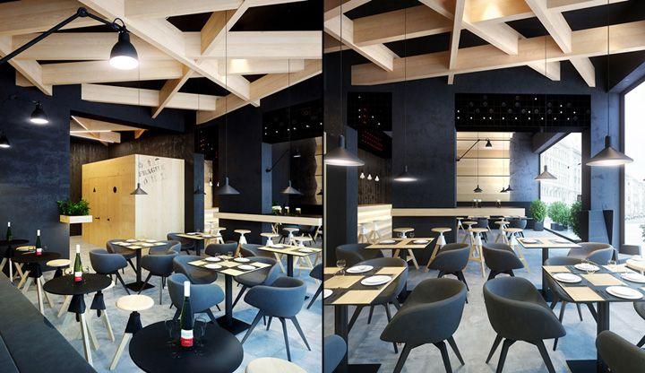 bar interiors design 2. Bristol 2 Cafe Bar Concept By Umbra Design, Ivano Frankivsk Ukraine Interiors Design O