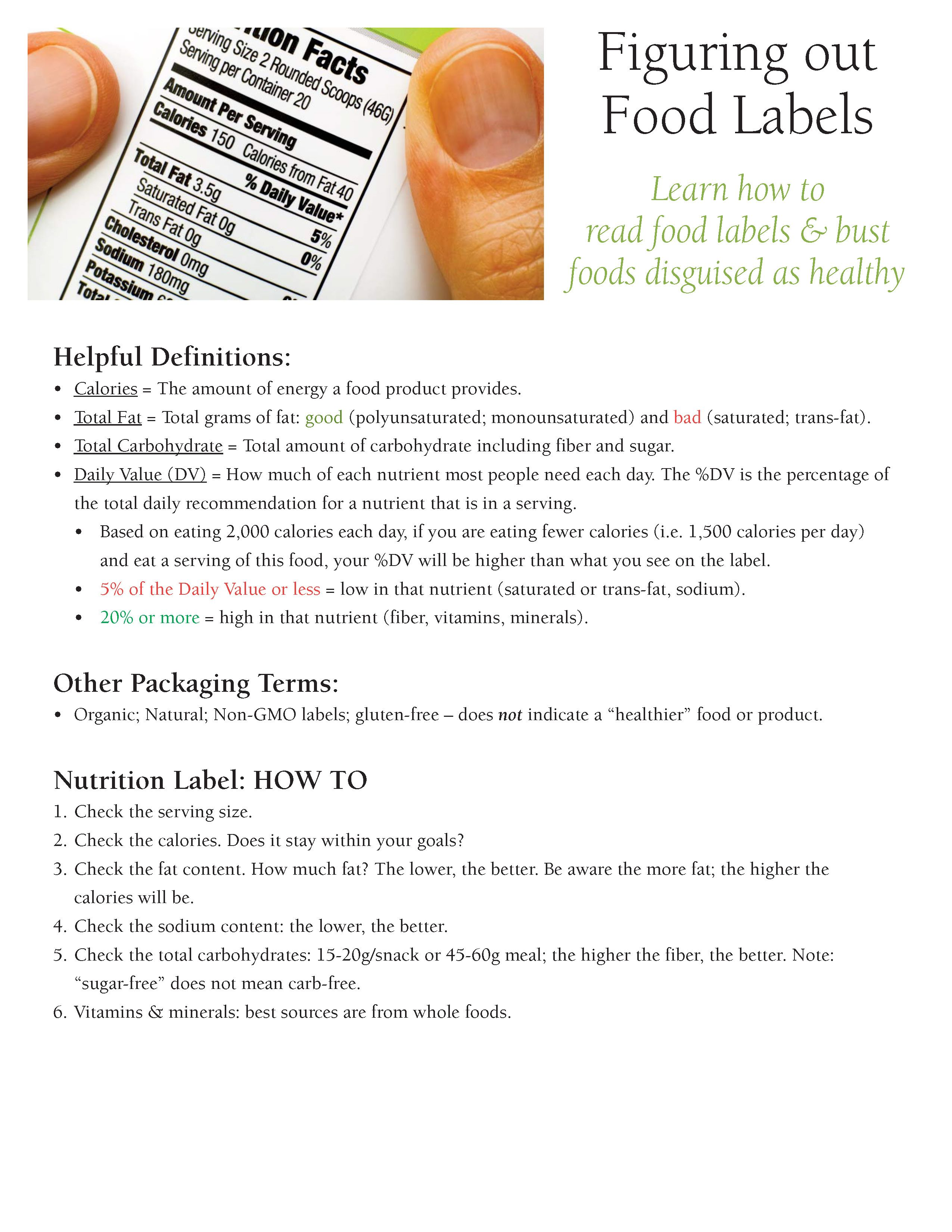 Learn How To Read Food Labels And Bust Foods Disguised As