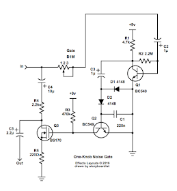 Perf and PCB Effects Layouts: One-Knob Noise Gate | Pedals