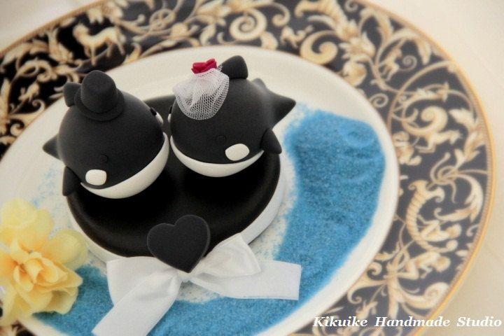 Orca Whale Wedding Cake Topper K606 Baby Stuff