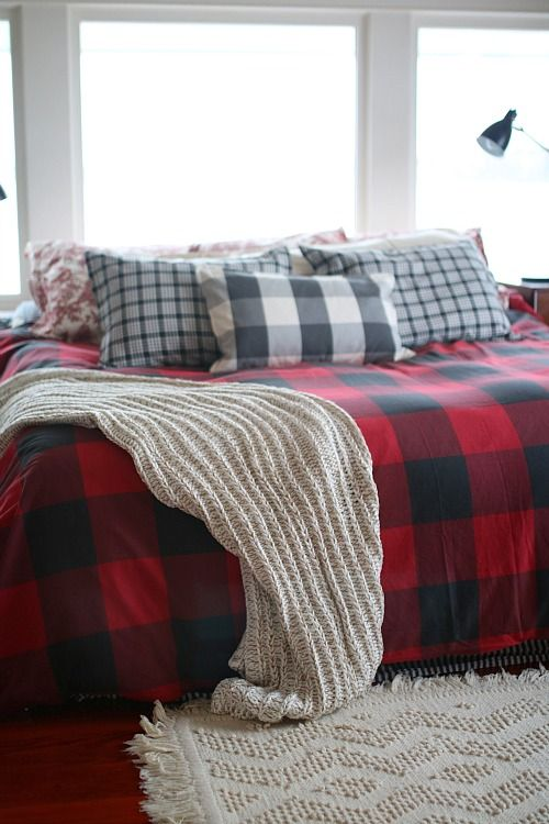 Buffalo Check In Bed Red Bedding Luxury Bedding Cheap