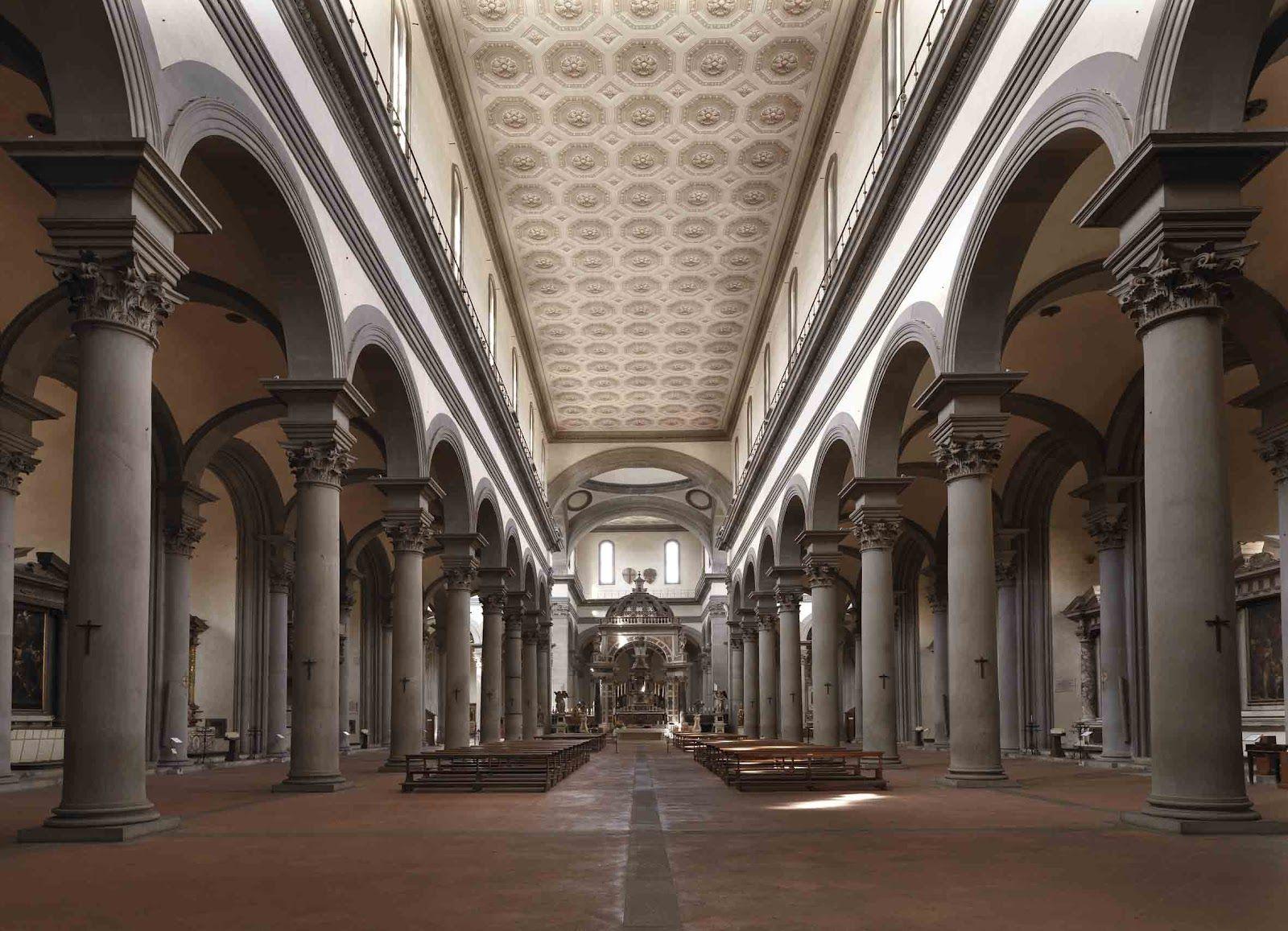 Filippo brunelleschi chiesa di santo spirito 1444 for Interior iglesia san lorenzo brunelleschi