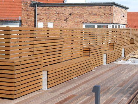 Pflanzkasten mit Sichtschutz / Ecke aus heimischem Holz