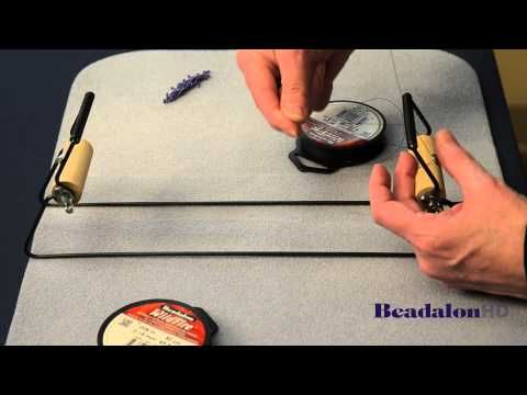 Beadalon - Beading Loom Featuring Leslie Rogalski, Warping (Part 1 of 3) - YouTube