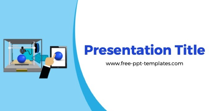 3d Printing Powerpoint Template Is A White Template With A Background Illustration Of 3d Printer That You Can Science Powerpoint Templates Powerpoint Templates