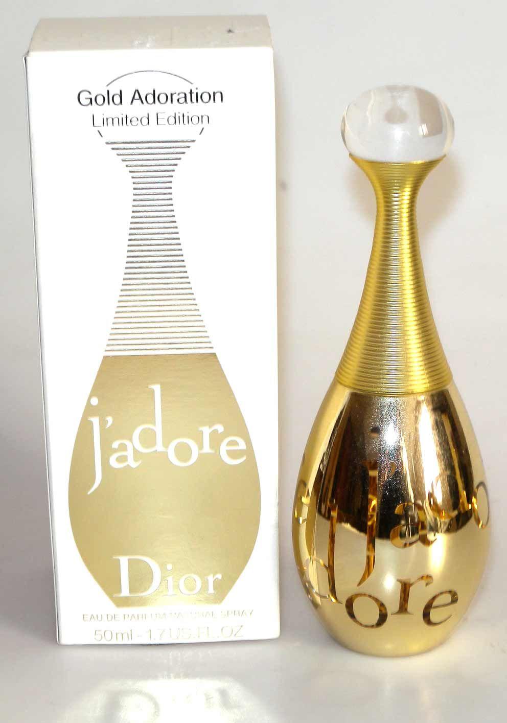 Dior J\'adore Adoration en or Edition Limitée, eau de parfum 50 ml ...
