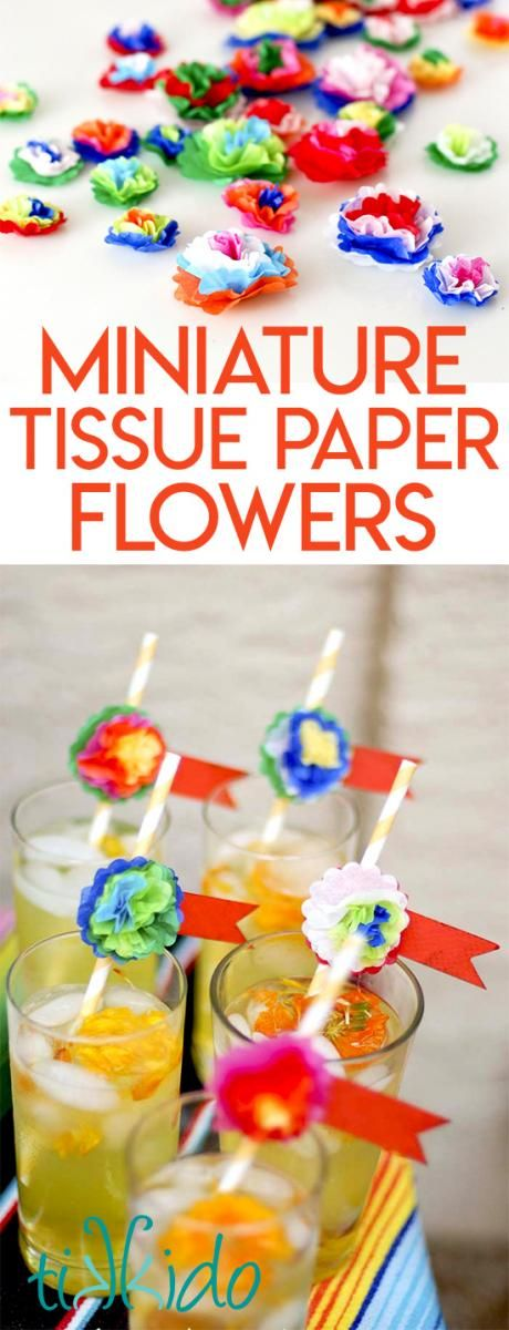How To Make Mini Tissue Paper Flowers Girl Scouts Mexican
