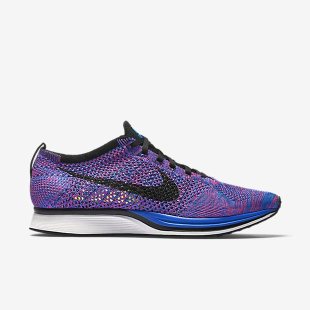 95175efd2a72 ... closeout chaussure de running mixte nike flyknit racer pas cher  pointure homme bleu électrique 9750e f7c76