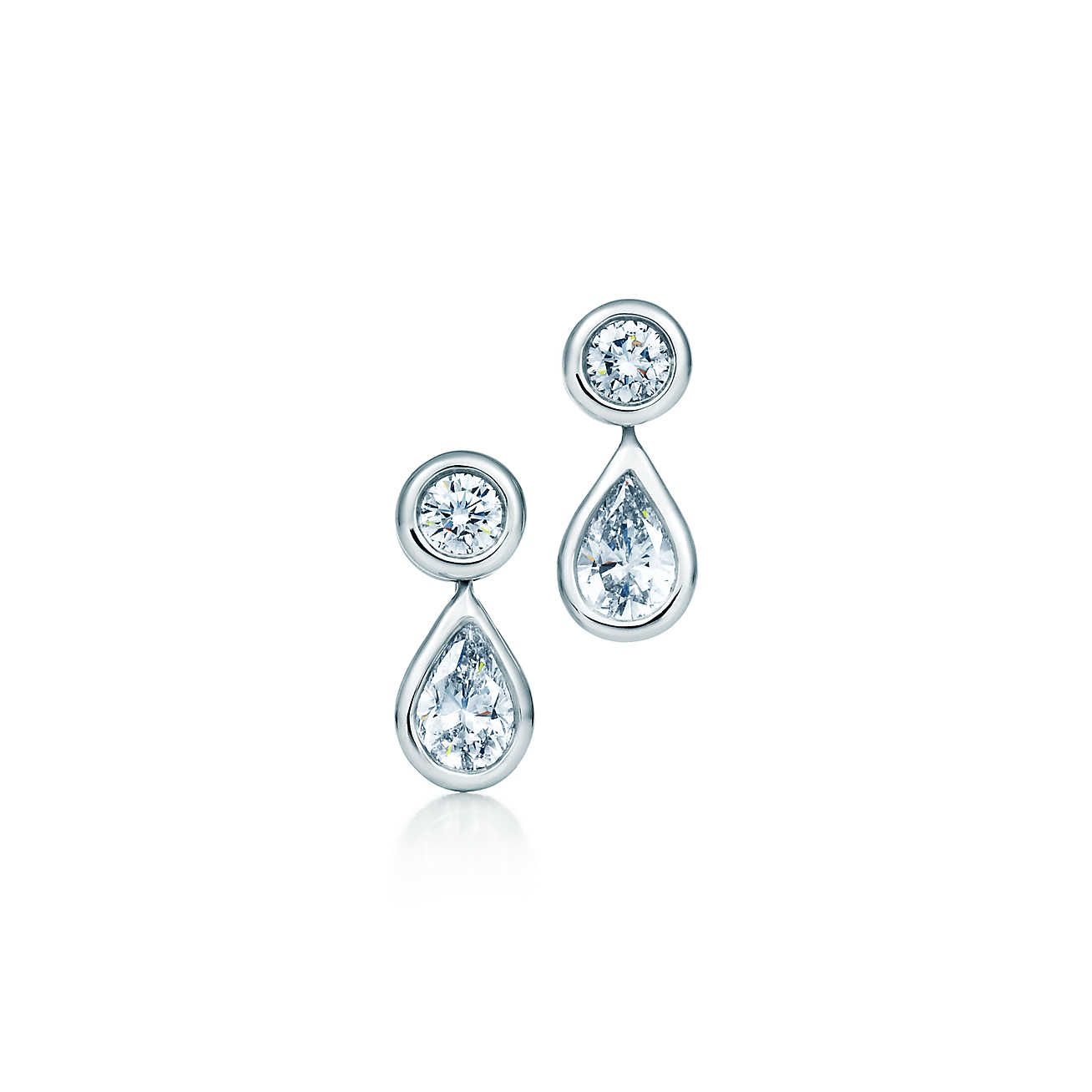 Elsa Peretti Diamonds By The Yard Earrings In Platinum