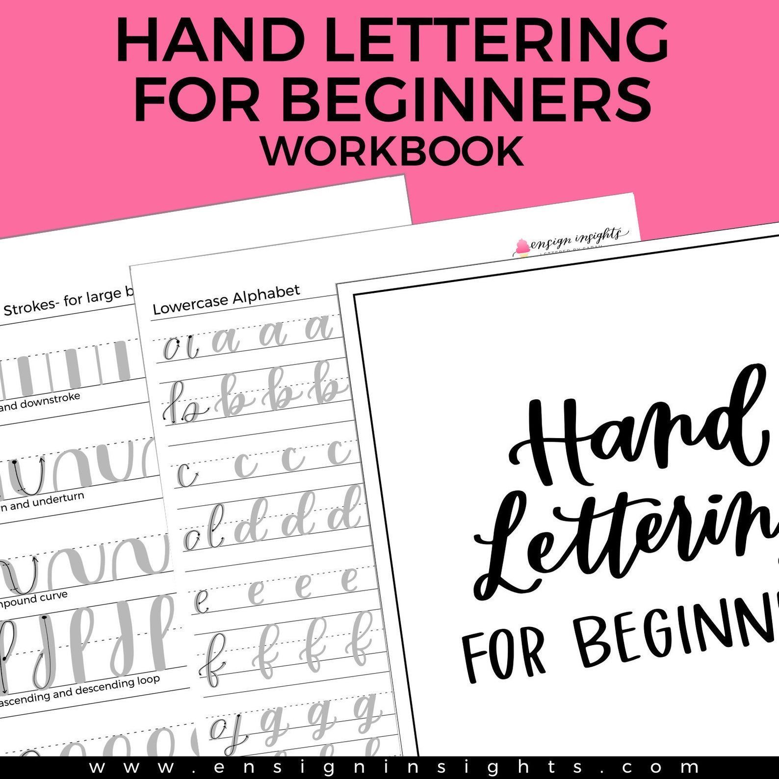 E Book Hand Lettering For Beginners Workbook Learn Hand