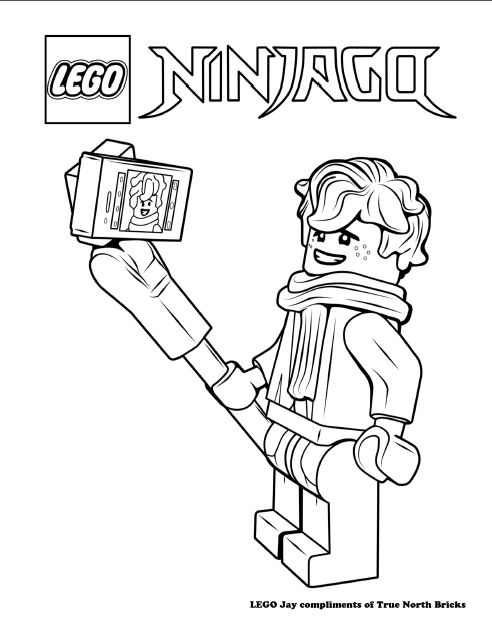 LEGO Colouring Page Jay Lego