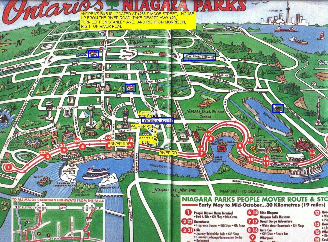 Map Of Niagara Falls Canada Hotels Map of Niagara Falls Ontario | Niagara Falls Canada Hotels
