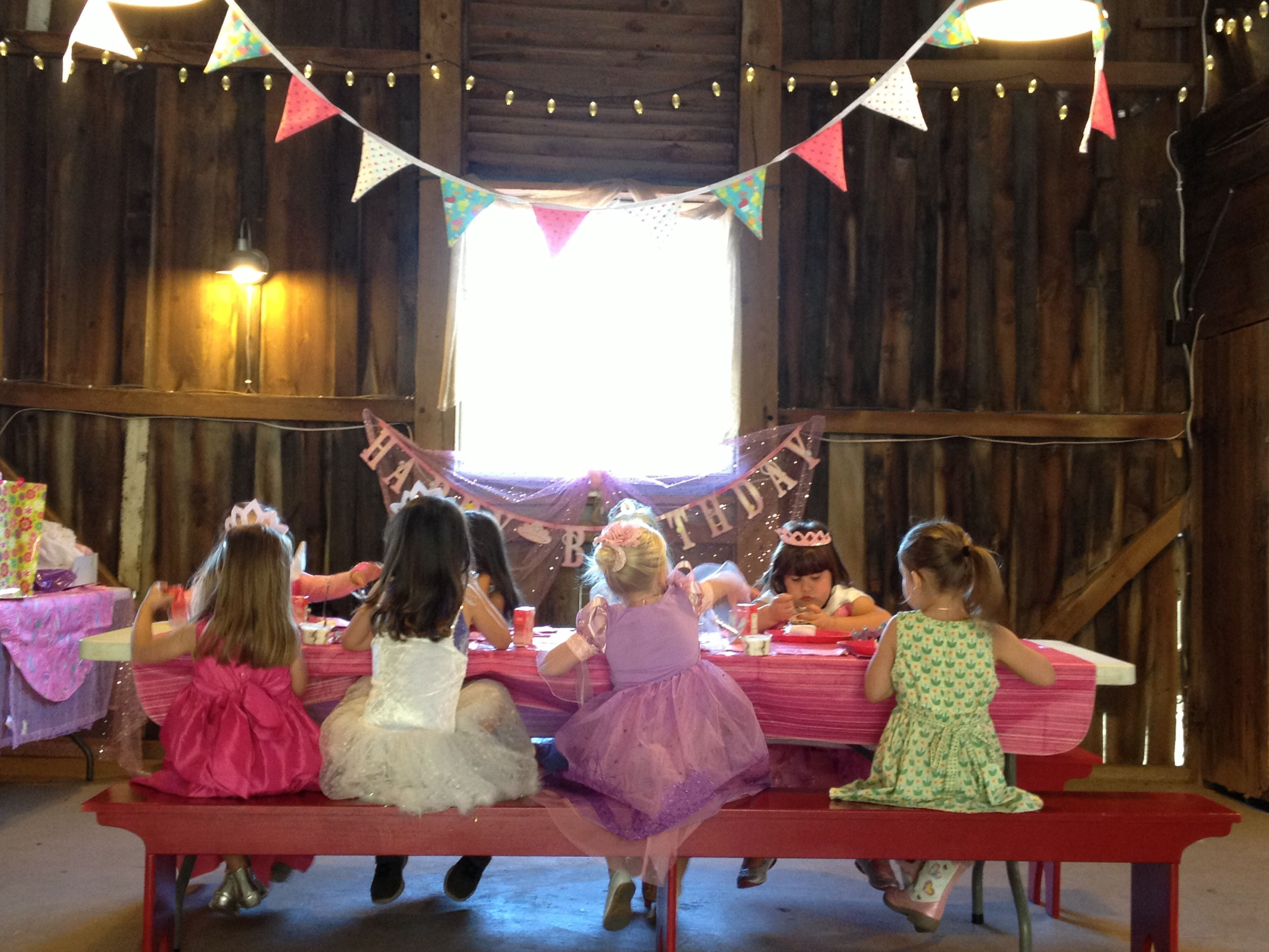 Birthday party in the barn