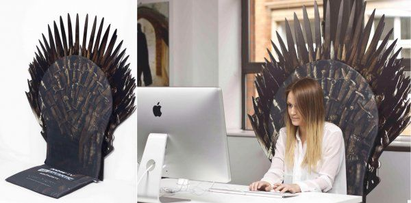 Game Of Thrones Office Chair Desk Vinyl Blue Transform Your Into The Iron Throne Pic Project Wish This Was A Real Product
