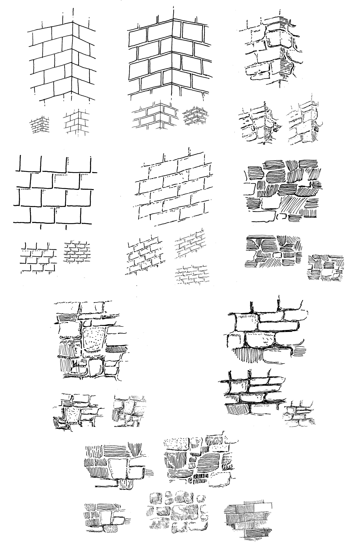 Walls Bricks Masonry Studies Copy From Arthur L Guptill S