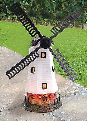 New Large #solar Powered Led Motion U0026 Light Windmill #garden #decoration  Ornament,