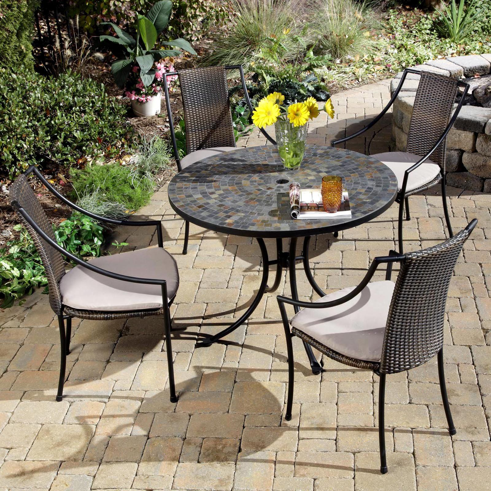 Have To Have It Home Styles Stone Harbor Mosaic Outdoor Dining Set