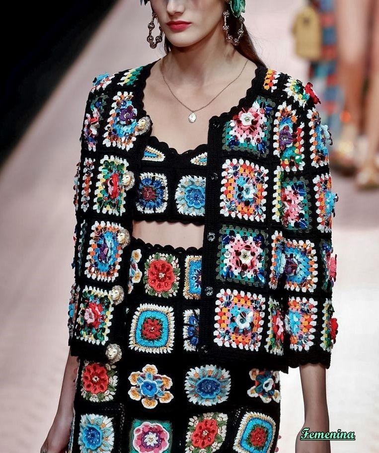 33634d33ec Dolce & Gabbana Spring/Summer 2019 | 2019 | Crochet fashion, Crochet ...