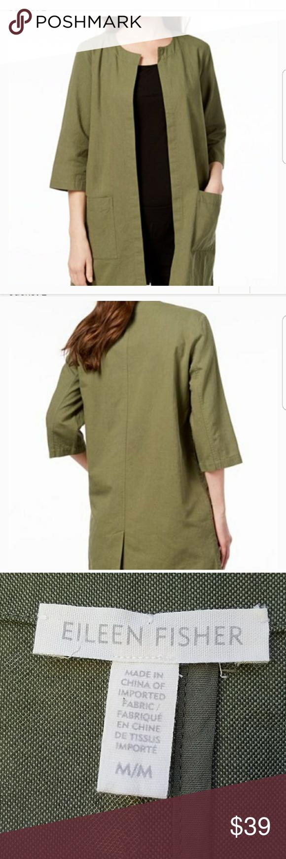 Eileen Fisher Green Organic Cotton Jacket Eileen Fisher Cotton Jacket Eileen Fisher Jacket [ 1740 x 580 Pixel ]