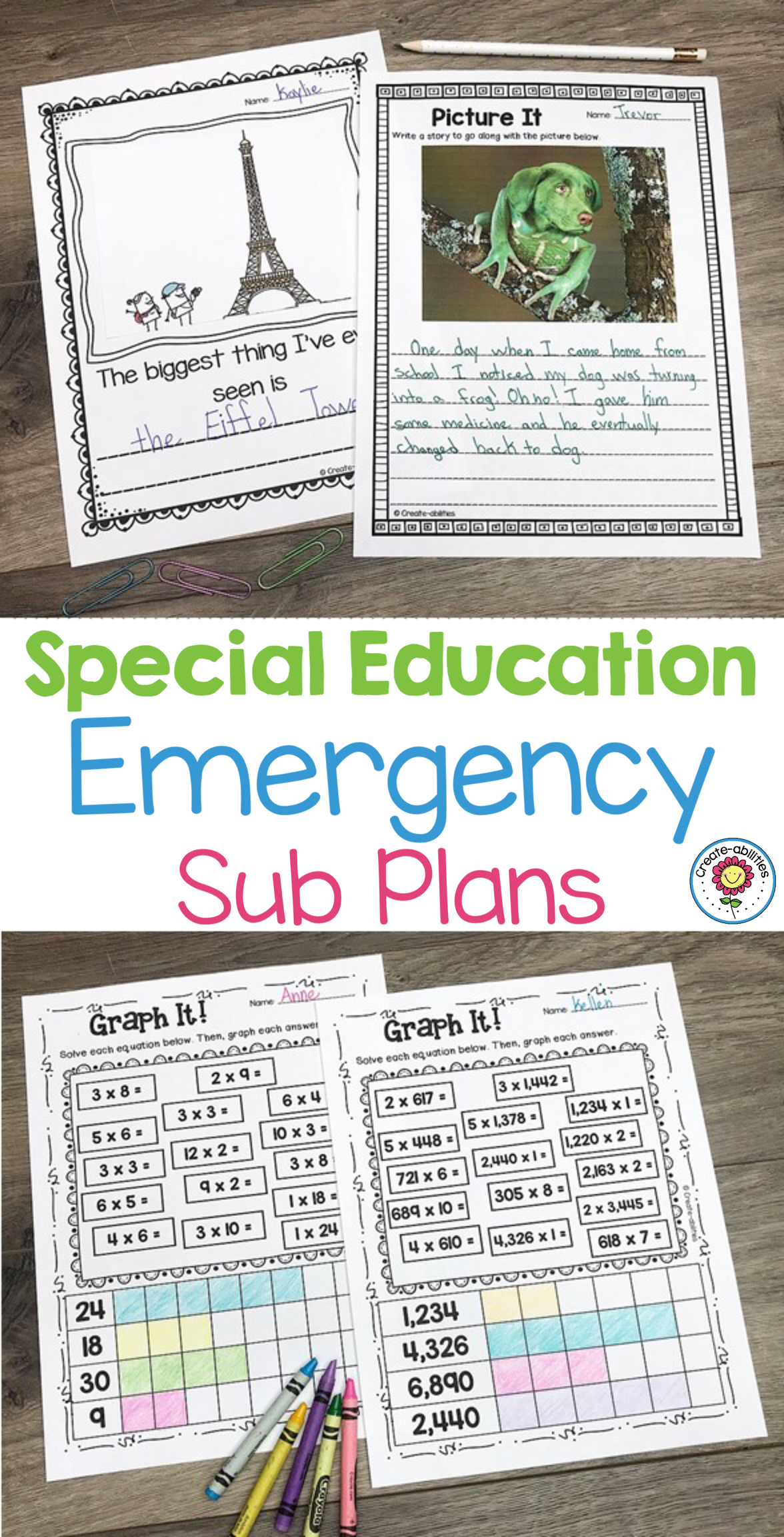 Sub Plans Special Education With Images