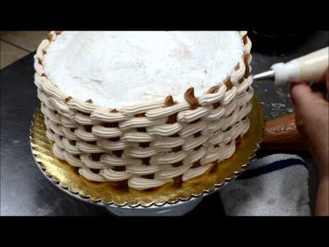 How to make pattern quilting on cake - Flower Basket cake tutorial