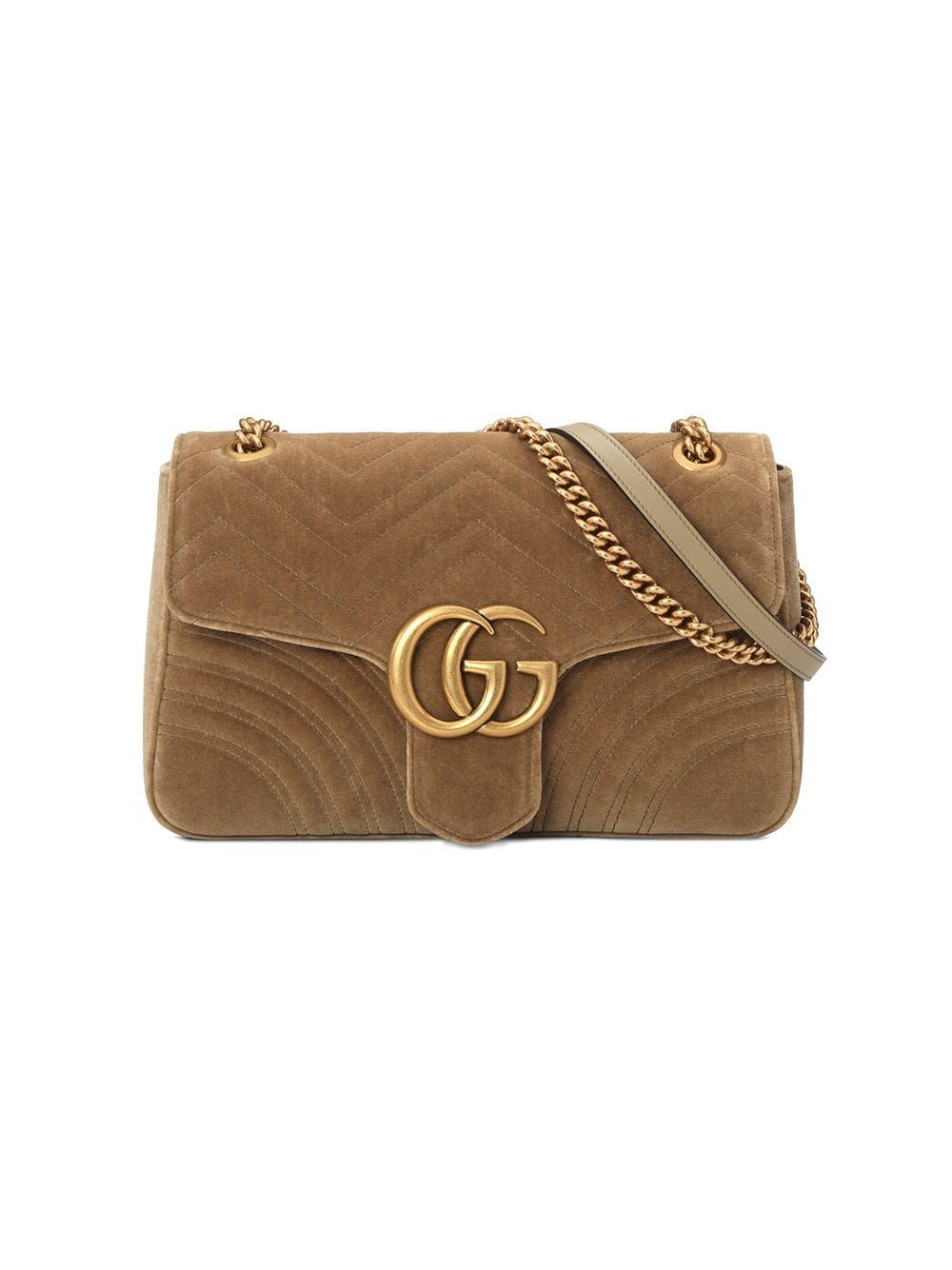 46a1467a6 Gucci taupe GG Marmont velvet medium shoulder bag - Brown in 2019 ...