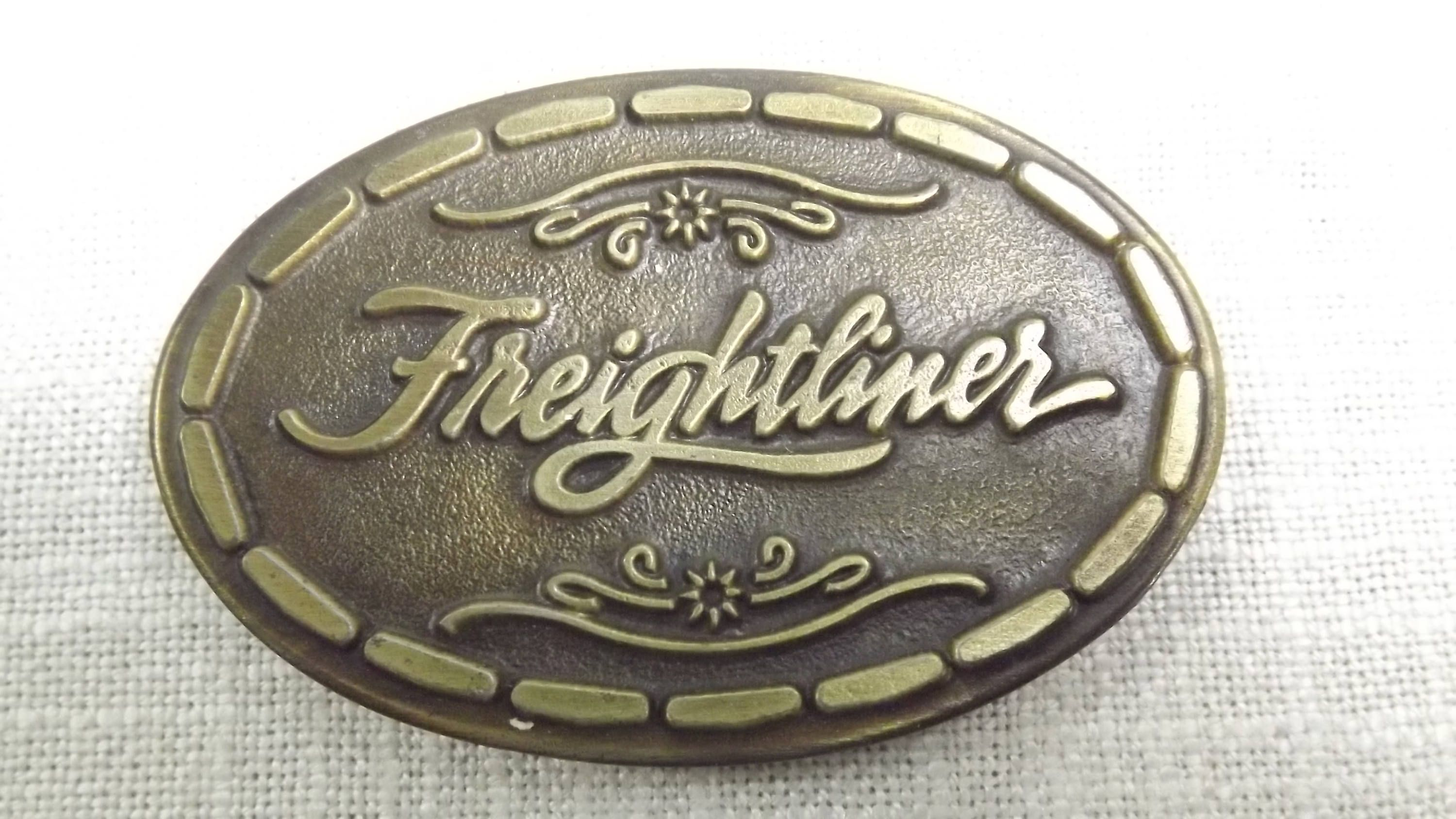 Vintage Freightliner Collectible Belt Buckle Transportation Etsy Belt Buckles Freightliner Buckle