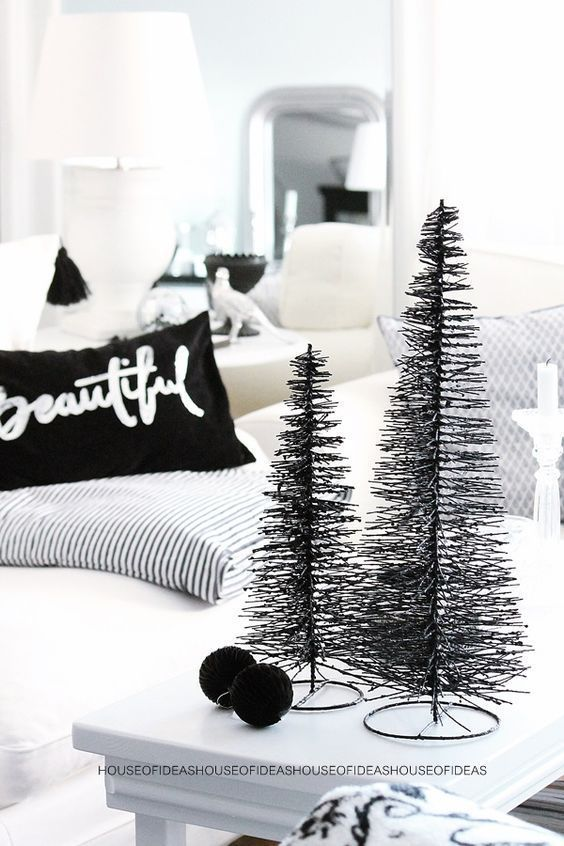 Best Black Christmas Tree Ideas in Christmas 2019 #blackchristmastreeideas