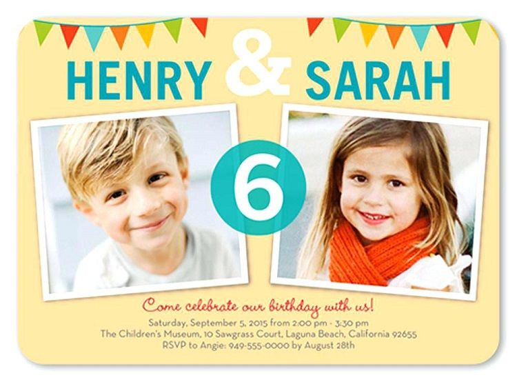 free birthday invitation templates for twins
