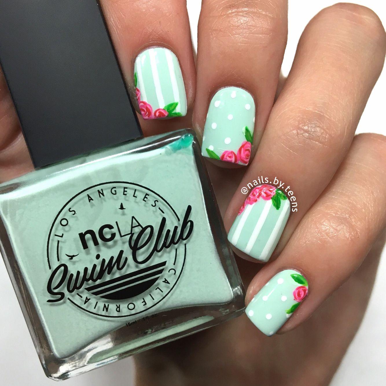 Vintage Rose Nails | Nails <3 | Pinterest | Decoración de uñas y ...