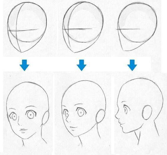Como Aprender A Dibujar Rostros De Anime Y Manga 1 Como Aprender A Dibujar Aprender A Dibujar Anime Como Dibujar Animes