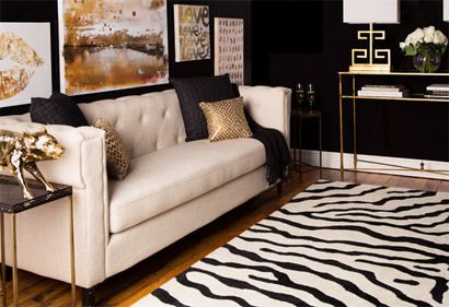 Cream Black Gold Classic Neutral Sofa Black Walls And