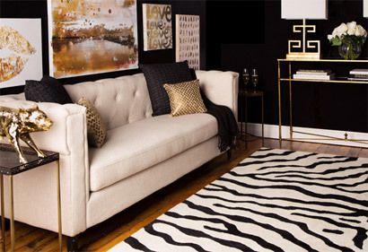 Cream Black Gold Classic Neutral Sofa Black Walls And