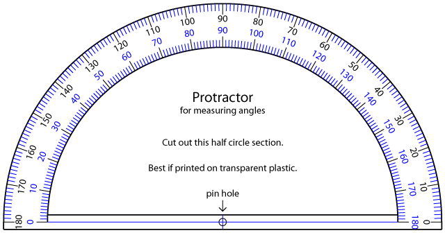 Can 39 T Find A Protractor Here 39 S One You Can Print On Clear